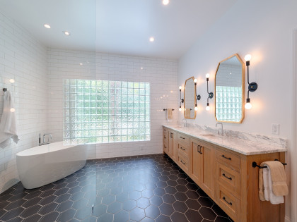 Master Bath Renovation:  Brass Exchange