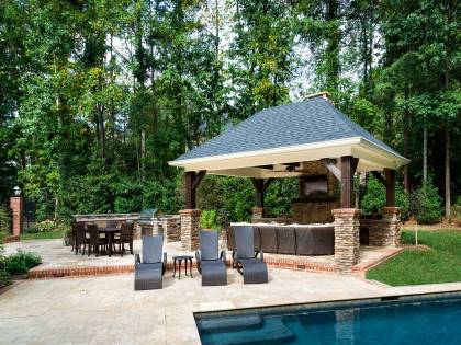 Outdoor Living:  Cabana & Kitchen