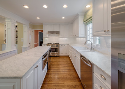 Kitchen Renovation:  Washed in White