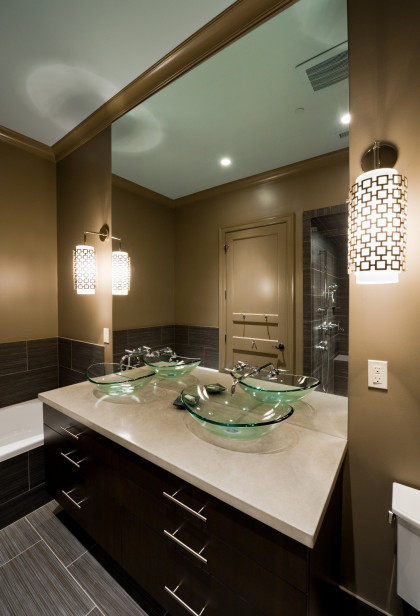 Master Bathroom:  Modern by Design